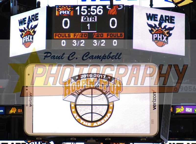 Basketball held at Home,  Arizona on 1/6/2017.