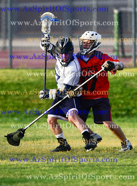 High School Boys Lacrosse held at Home,  Arizona on 4/3/2018.