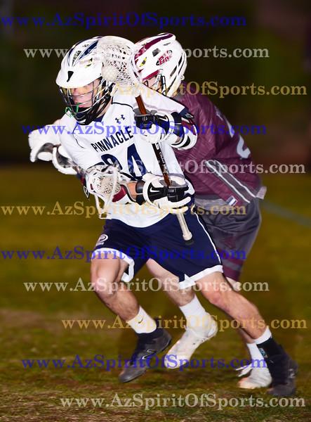 High School Boys Lacrosse held at Home,  Arizona on 4/5/2018.