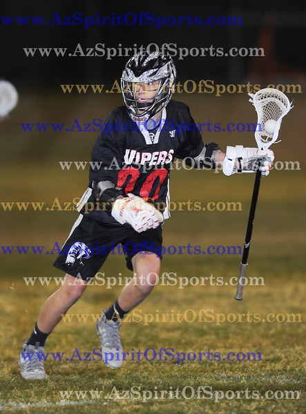 High School Boys Lacrosse held at Home,  Arizona on 4/18/2018.