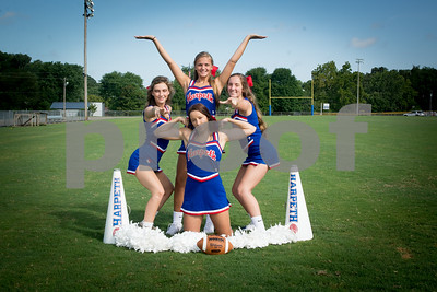 Harpeth Football Cheer Seniors