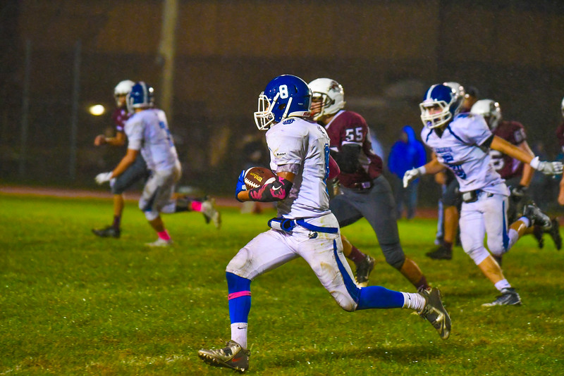 Lunenburg's George Khairalla takes off during Friday night's game. Nashoba Valley Voice/Ed Niser