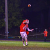 North Middlesex wide receiver Kory Partridge passes the  ball on a trick play in the fourth quarter. Nashoba Valley Voice/Ed Niser