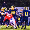 North Middlesex's Aaron Berry sacks Quabbin quarterback Ryan Malkowski. Nashoba Valley Voice/Ed Niser