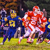 North MIddlesex's Xavier Marty takes off during Friday night's loss to Quabbin. Nashoba Valley Voice/Ed Niser