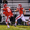 North Middlesex's Joe Haskins takes off down the sideline. Nashoba Valley Voice/Ed Niser