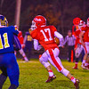 North Middlesex's TIm O'Neill takes off downfield during Friday night's loss to Quabbin. Nashoba Valley Voice/Ed Niser