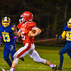 North Middlesex's Joe Haskins runs with the ball during Friday night's loss to Quabbin. Nashoba Valley Voice/Ed Niser
