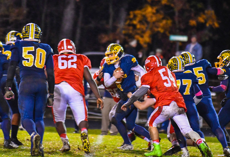 Quabbin's Ryan Malkiwski takes off during Friday night''s game. Nashoba Valley Voice/Ed Niser