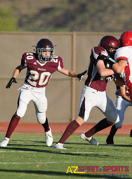 Freshman Football held at Home,  Arizona on 8/15/2016.