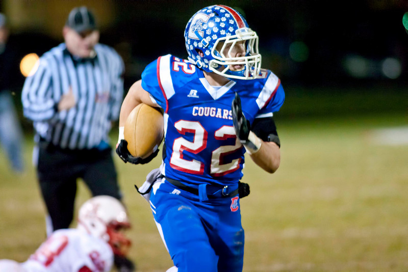 Conner #22 Cameron Fogle (RB,DB) took a reverse pitch for 70 yards to the house.  Anderson Co. Defeated Conner 31-30.  (The Journal News/Scott Davis)