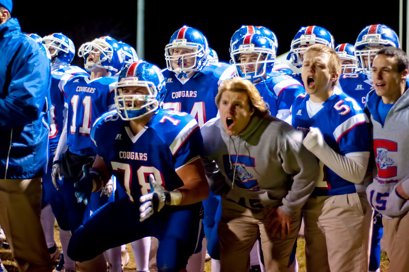 Conner's teammates cheer on the defense during Anderson Co. last second drive. Anderson Co. Defeated Conner 31-30.  (The Journal News/Scott Davis)