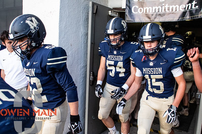 Mission Prep Football hosted Morro Bay High School in San Luis Obispo, CA. Photo by Owen Main 10/11/19