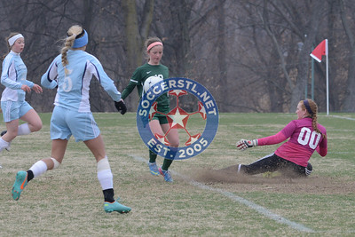 2014-03-29 Downers Grove South visits St Joseph Academy in St Louis for high school girls soccer