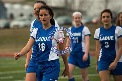 Ladue vs Duchesne at Lutheran SC soccer jamboree
