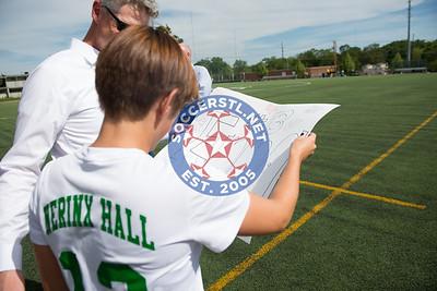 Nerinx Hall Celebrates Senior Night with a Win