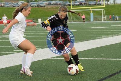 Ft Zumwalt East at Parkway West in high school girls soccer