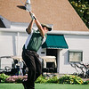 Oakmont's Jonathan LeBlanc tees off on Tuesday afternoon at Oak Hill Country Club. SENTINEL & ENTERPRISE / Ashley Green