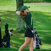 Oakmont's Hailey Davis tees off on Tuesday afternoon at Oak Hill Country Club. SENTINEL & ENTERPRISE / Ashley Green