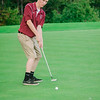 Fitchburg's Nick Falconer during the golf match on Tuesday afternoon at Oak Hill Country Club. SENTINEL & ENTERPRISE / Ashley Green