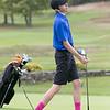 Ayer Shirley Regional High School played Fitchburg High School while Leominster High School, St. Bernard's and Northbridge High School played each other at Oak Hill Country Club on Tuesday, Oct. 8, 2019 in Fitchburg. LHS's junior Alex Nelson tees off. SENTINEL & ENTERPRISE/JOHN LOVE