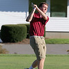 Fitchburg senior Jack Cassidy tee's off during the match on Tuesday afternoon at Oak Hill Country Club in Fitchburg. SUN/JOHN LOVE