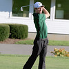 Nashoba senior Dean Anastas tee's off during the match on Tuesday afternoon at Oak Hill Country Club in Fitchburg. SUN/JOHN LOVE