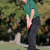 Nashoba senior Dean Anastas makes a putt during the match on Tuesday afternoon at Oak Hill Country Club in Fitchburg. SUN/JOHN LOVE