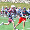 Groton-Dunstable's Jack O'Neill is defended by North Middlesex's Jake Fitzgerald. Nashoba Valley Voice/Ed Niser