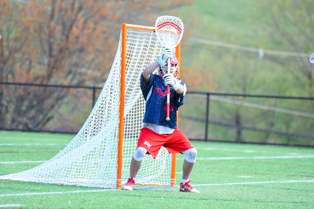 . North Middlesex\'s Jake Baron awaits a shot during Tuesday\'s loss to Groton-Dunstable. Nashoba Valley Voice/Ed Niser
