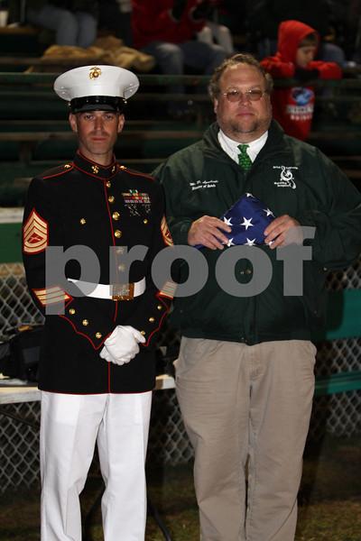 David Lyncheski  Brictown band director receives American Flag that flew over Albany georgia Marine Base