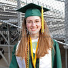 Valedictorian Carla Upperman prior to the graduation ceremonies last Thursday evening at Dragon Stadium.