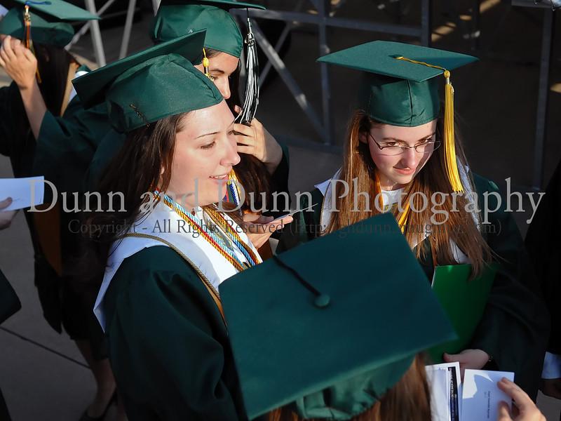 Salutatorian Caitlin Edmunds And Valedictorian Carla Upperman Wait For The Start Of Graduation Ceremonies Last Thursday
