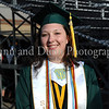 Salutatorian Catie Edmunds prior to the graduation ceremonies last Thursday evening at Dragon Stadium.