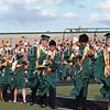 Caps were flying during graduation ceremonies last Thursday evening at Dragon Stadium.
