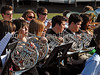 Members of the Carroll Band perform at the 2009 Carroll Senior High School Commencement ceremony last Friday afternoon at Dragon Stadium.*
