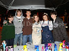 **Carroll juniors Mallory Treta, Jackson Williams, Joe Pierce, Sarah Means, Caitlin Ciucevich and Scott Peterson at the Carroll Junior Class Council's booth at Carroll's Homecoming Carnival last Wednesday night at Dragon Stadium.