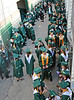Carroll graduates wait for the start of the 2011 Commencement ceremonies at Dragon Stadium.
