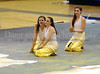 Keller High School Varsity Winterguard members Becky McQuillan, Ally Bartz and Destiny White