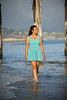 Mileena (High School Senior Portrait Photography, Capitola Beach, California) : Mileena chose to have her high school senior portrait photography session at capitola beach - this is such a great location due to the natural beauty as well as the interesting colorful architecture and the always-compelling wooden pier. Mileena did a fabulous job following directions and improvising on her own as well.