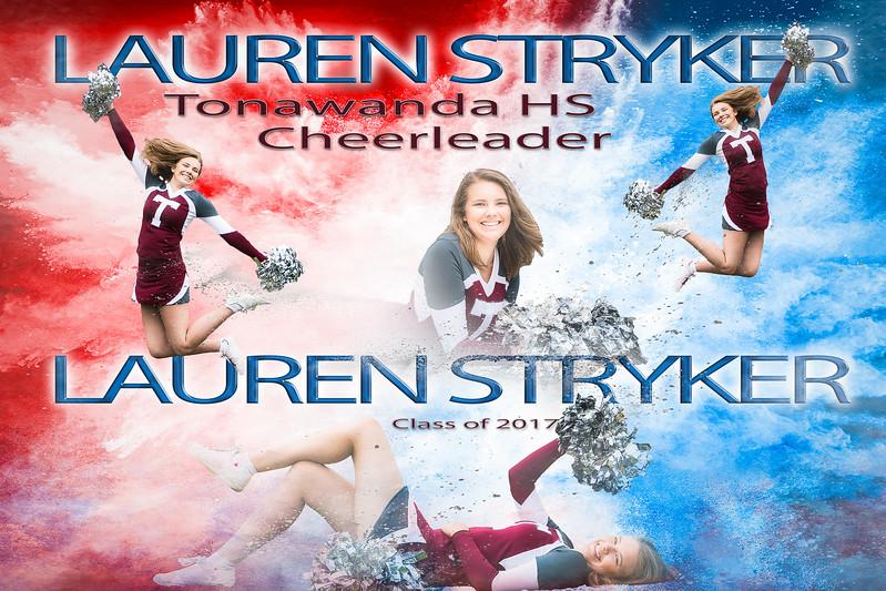 Lauren Stryker Cheerleader Powder Composite-12x18 -1-1