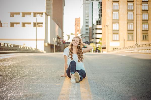 Downtown Grand Rapids, MI senior photography