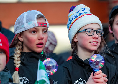 Abigail Williams (left) and Elli Andrus of Camden, watch the opening ceremonies.