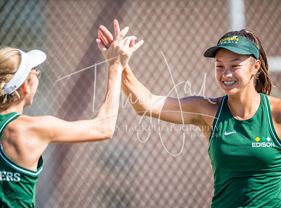 Edison vs  Cypress Girls Tennis 2-3nik