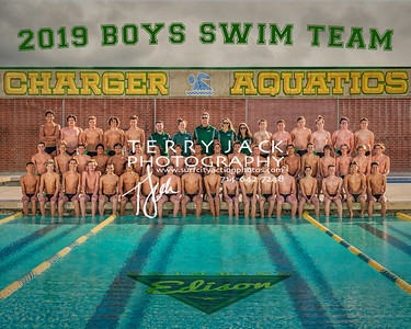 Edison Boys Swim Team 2019