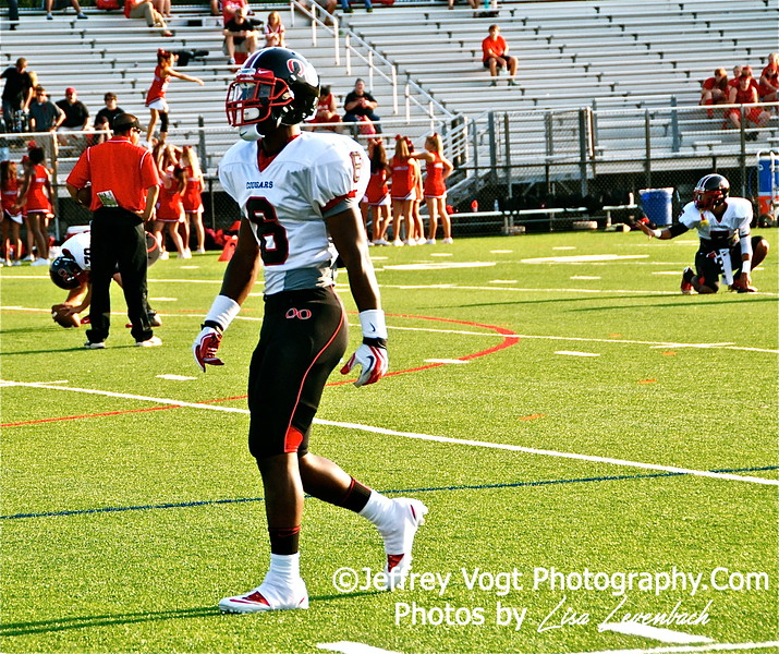QO's #6 Kyle Gregory during warm-up