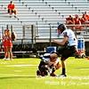 Jake Barkdoll practices kicks with Matt Choi