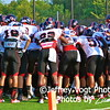 Cougars pre-game huddle