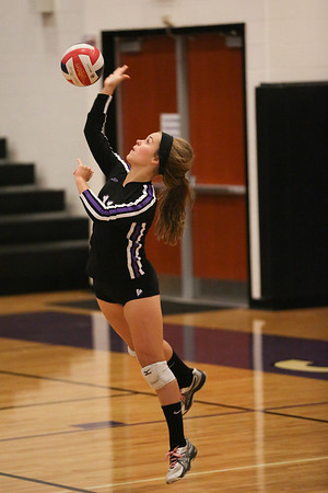 CHS, Lyn Nelson #11, serves against Northwood