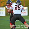 QO linebacker #25 Jason Heyn and LB/TE #9 Julian Seawright